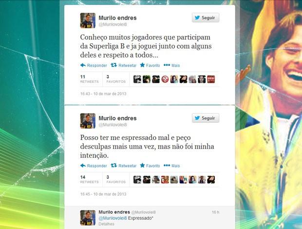 Reprodução twitter vôlei Murilo Endres (Foto: Reprodução / Twitter)