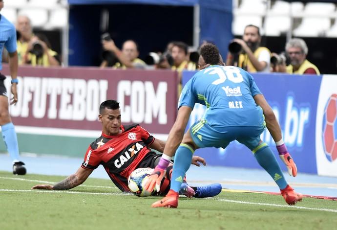 Miguel Trauco e Alex Muralha - Fluminense x Flamengo - Final da Taça Guanabara 2017 (Foto: André Durão)