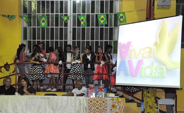 As atrações musicais da noite também foram pra lá de especiais (Foto: Priscila Miranda/ TV Tapajós)