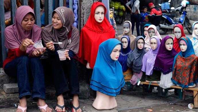 mulheres com burca - hijab (Foto: Reuters)