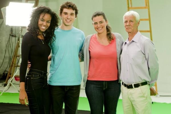 Os colaboradores do Grupo RBS Elisangela, Marcelo, Fernanda e Celso (Foto: Fernando Willadino/Divulgação)