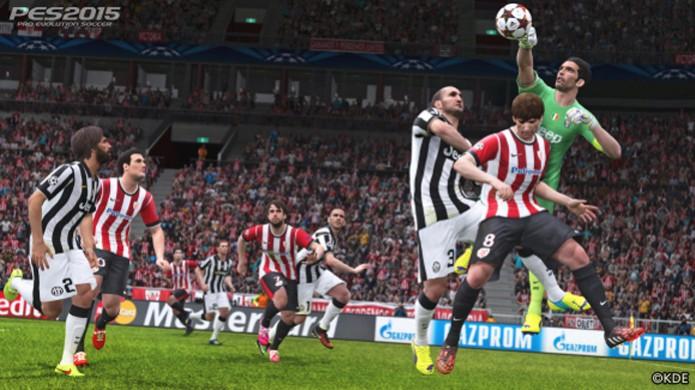 Juventus tenta tomar espaço nas novas imagens de PES 2015 (Foto: PlayStationer) (Foto: Juventus tenta tomar espaço nas novas imagens de PES 2015 (Foto: PlayStationer))