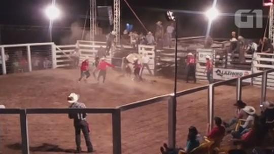 Peão morre após ser pisoteado por touro em festa de Alvorada, RO: VÍDEO
