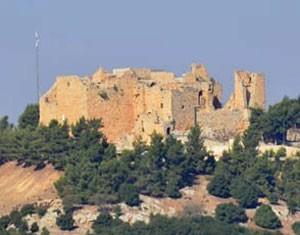 O castelo de Ajloun, no norte do país; vazio em setembro (Foto: Juliana Cardilli/G1)
