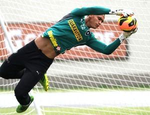 Renan treino do Botafogo (Foto: Vitor Silva / SSPress)