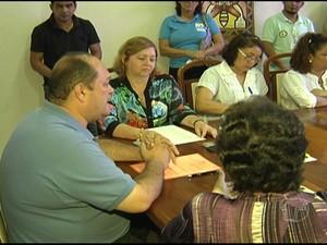 Ato de criação do Conselho Tutelar III em Santarém. (Foto: Reprodução/TV Tapajós)