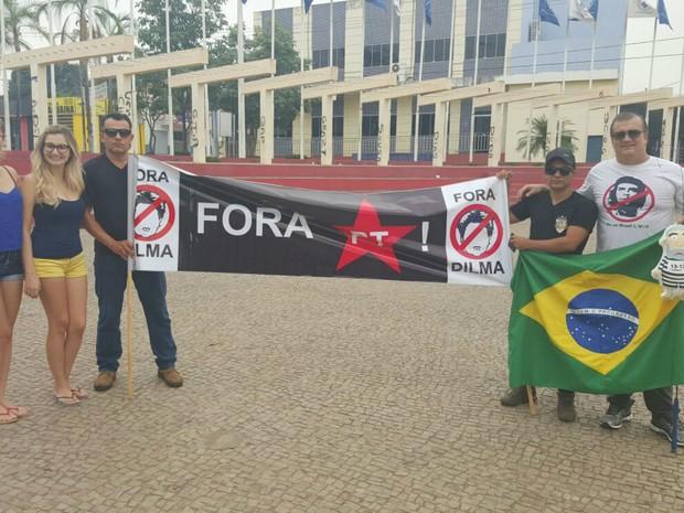 Protesto realizado em Araguaína, norte do Tocantins (Foto: Divulgação)