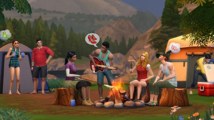 Leve seus Sims para acampar na expansão Retiro ao Ar Livre de The Sims 4 (Foto: Divulgação)