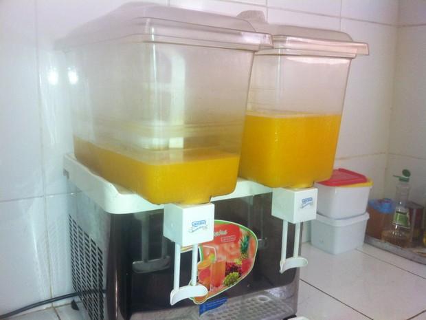 suco de maracujá hospital são pedro (Foto: Heitor Moreira/G1)