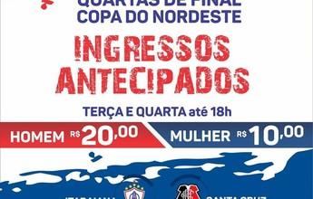 Itabaiana x Santa Cruz: Bilhetes estão disponíveis para compra em 4 pontos