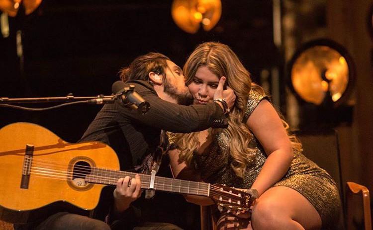 Luan Santana e Marlia Mendona juntos no novo single do cantor, 'Fantasma' (Foto: Divulgao)