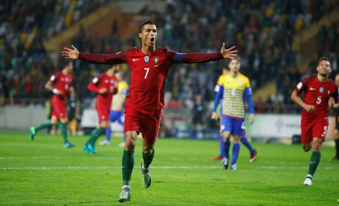 Cristiano Ronaldo Portugal Andorra (Foto: Reuters)