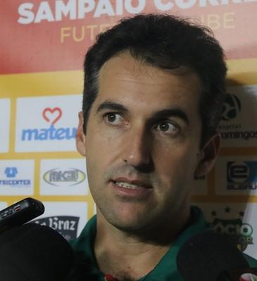 Técnico Léo Condé destaca a superação dos atletas do Sampaio Corrêa (Foto: Sampaio / Divulgação)