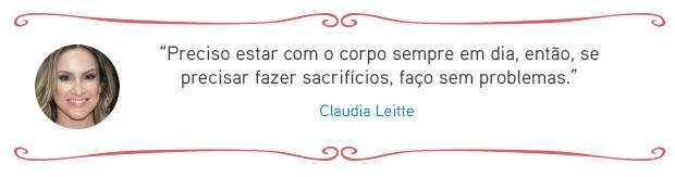 Cardápio das famosas - Claudia Leitte (Foto: EGO)