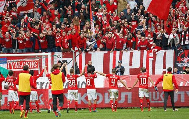 lance de spartak moscou e CSKA (Foto: Reprodução / Facebook)