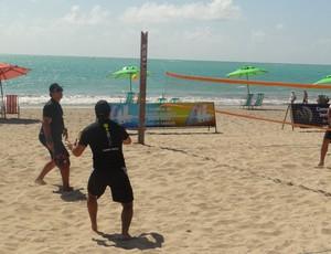 Beach Tennis na Pajuçara (Foto: Viviane Leão/Globoesporte.com)