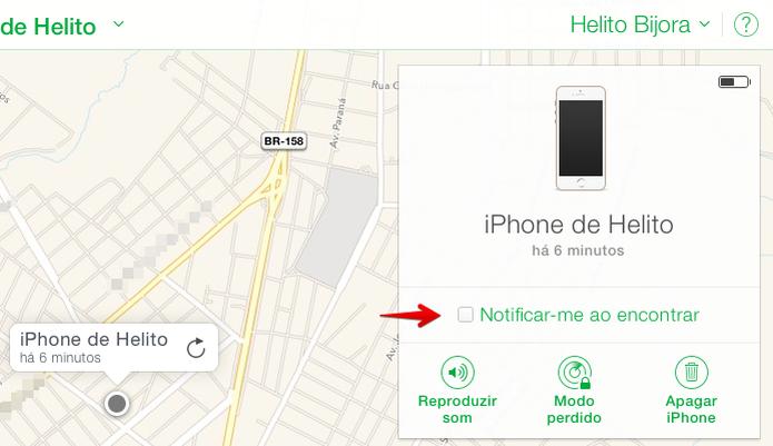 Ativando alerta sobre a localização do iPhone (Foto: Reprodução/Helito Bijora)  (Foto: Ativando alerta sobre a localização do iPhone (Foto: Reprodução/Helito Bijora) )