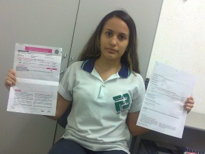 Estudante têm dois endereços distintos para fazer prova (Foto: Camila Teles/Arquivo Pessoal)