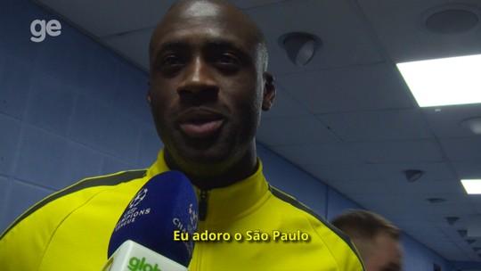 """""""Ô, Yaya"""": Touré vê o Brasileirão, adora o São Paulo e queria jogar na Seleção"""