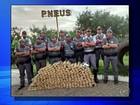 Polícia apreende mais de 250 quilos de maconha em pneus de caminhão