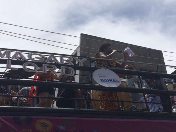 Magary Lord animou o folião na Mudança do Garcia (Foto: Rafael Teles / G1)