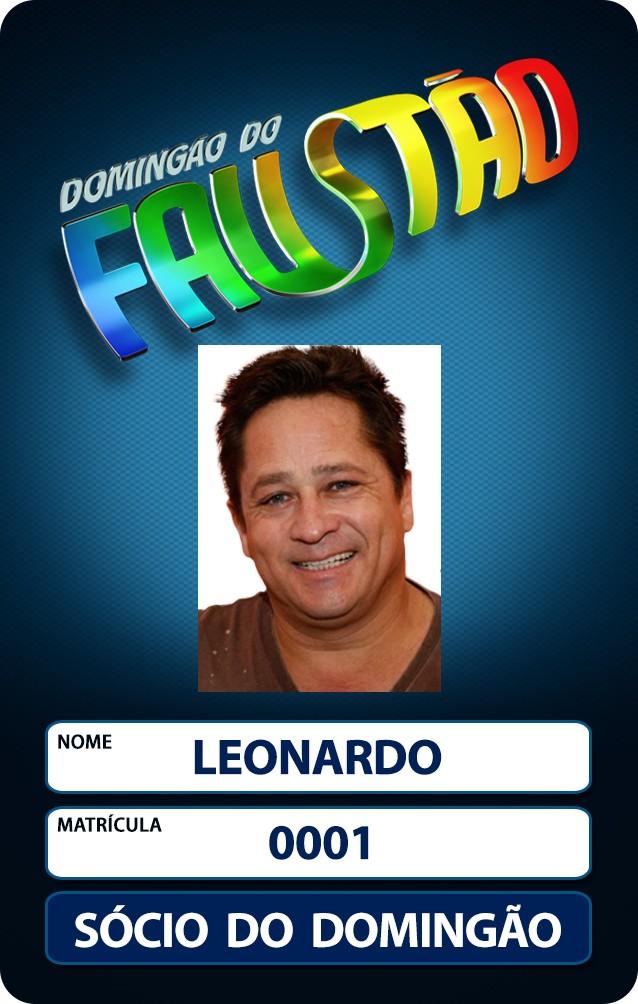 Leonardo agora é sócio do Domingão (Foto: Domingão do Faustão / TV Globo)