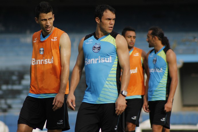Kleber, atacante do Grêmio (Foto: Diego Guichard)