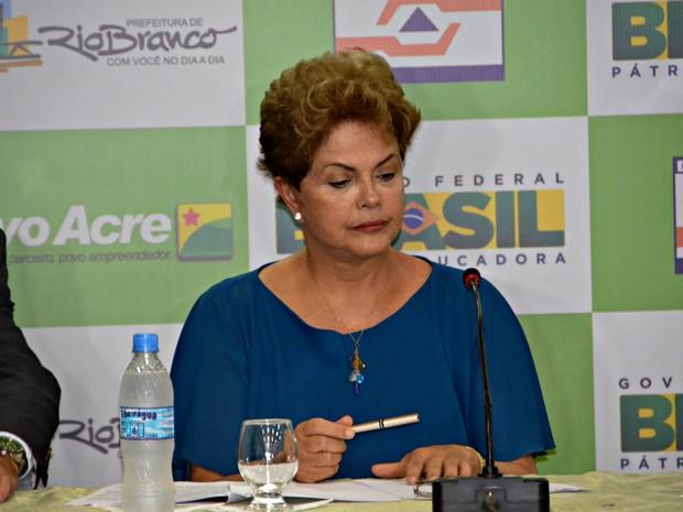Presidente Dilma no Acre (Foto: Cassius Afonso/TV Acre)