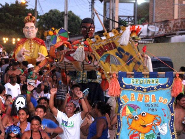 Banda do Siri mantém tradição no carnaval da Redinha, em Natal (Foto: Cláudio Abdon)