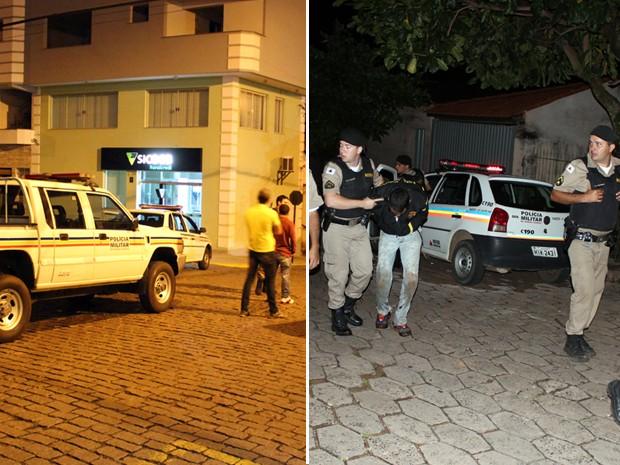 Dois suspeitos foram mortos e três ficaram feridos em troca de tiros com a polícia em Arceburgo, MG (Foto: Gabriel Delena/Site Jornal Meio Dia)