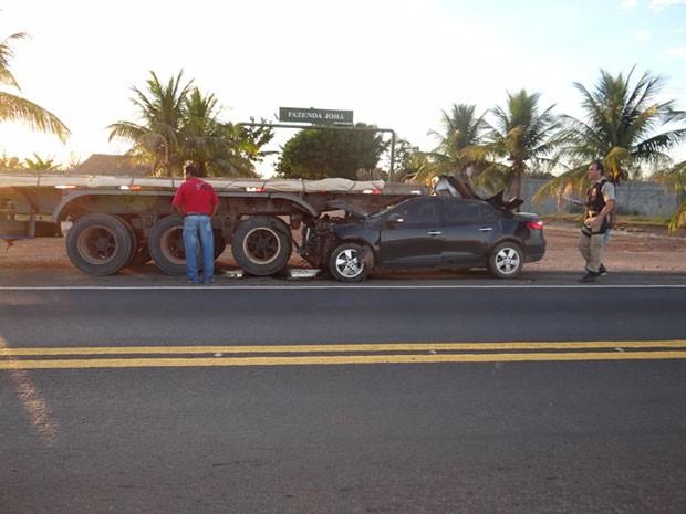 Acidente ocorreu no perímetro urbano da cidade de Luís Eduardo Magalhães. (Foto: Sigi Vilares/Blog do Sigi Vilares )