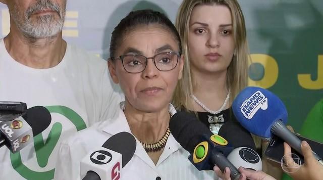Marina Silva fala sobre possível apoio da Rede a um dos candidatos no segundo turno