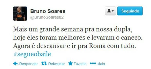 Bruno Soares twitter madri (Foto: Reprodução / Twitter)