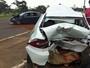 Batida deixa duas pessoas feridas na pista que leva à Ponte JK, em Brasília