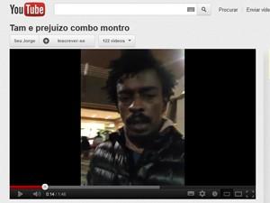 Cantor gravou vídeo falando do motivo de ter cancelado o show (Foto: Reprodução/Youtube)