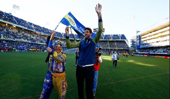 Juan Martín del Potro recebe homenagem do Boca Juniors (Foto: Divulgação/Boca Juniors)