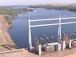 Usina Hidrelétrica de Três Irmãos em Pereira Barreto está com nível 0% (Foto: Reprodução / TV TEM)