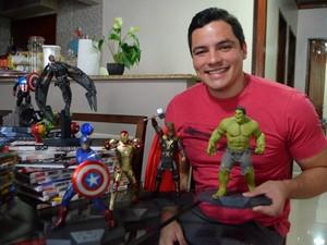 Fã vai assistir a estreia do filme Os Vingadores: A Era de Ultron (Foto: Fabiana Figueiredo/G1)