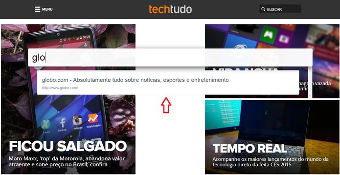 Busca por sites abertos no navegador usando o Chrome Tab Search (Foto: Reprodução/Marcela Vaz)