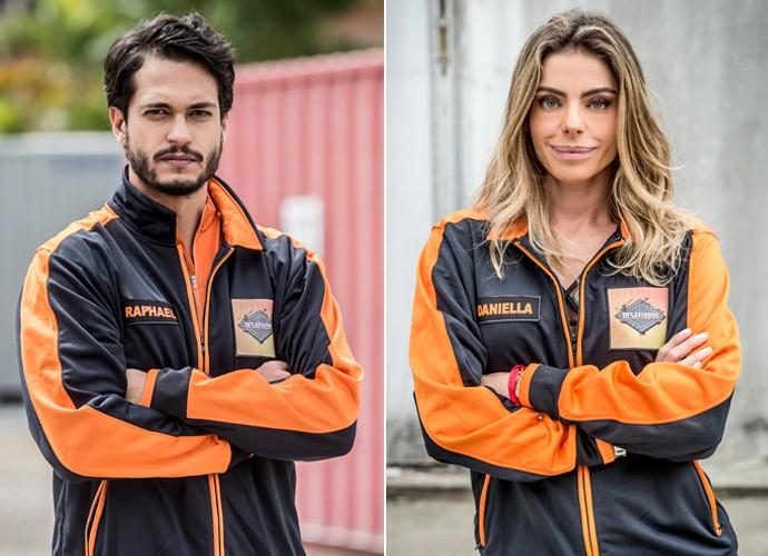 Raphael Vianna e Daniella Cicarelli estão fora da competição (Foto: João Cotta / TV Globo)