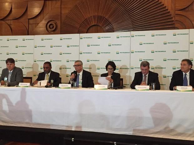 Diretoria da Petrobras apresenta resultados trimestrais da empresa no Rio de Janeiro (Foto: Daniel Silveira / G1)