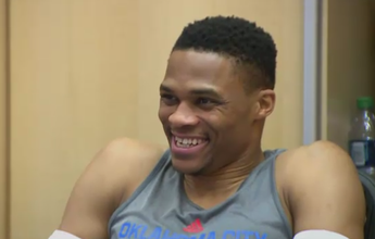 Astro indomável, depois cordial, Westbrook agradece torcida brasileira