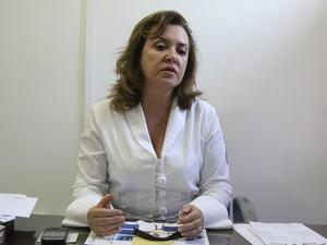 Delegada Cristina Meneses apresentará as estatísticas sobre os procedimentos realizados pela Polícia Civil em 2012 (Foto: Flora Dolores/O Estado)