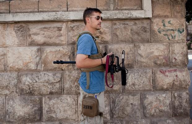 Foley, em Aleppo, em 2012. Ele cobria conflitos no Oriente Médio e no Norte da África (Foto: Nicole Tung)