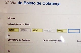 Código do boleto era trocado para mudar conta de destino (Foto: Reprodução)