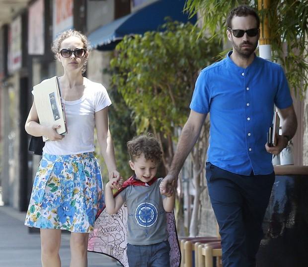 Natalie Portman em família (Foto: AKM-GSI)