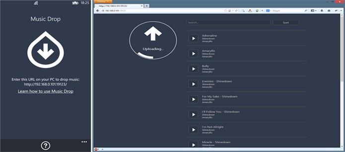 Music Drop transfere as músicas do seu computador para Windows Phone em poucos segundos (Foto:Divulgação/Windows Phone Store)