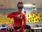 Tal mãe, tal filha! Fernanda Pontes e Malu usam fantasias de super-herói