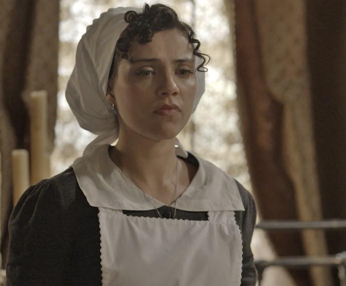 Anita revela para Roberto que está grávida dele (Foto: TV Globo)
