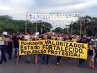 Policiais protestam contra prisão de PMs suspeitos de homicídios no RN